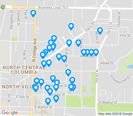 map of Benton - Stephens apartments for rent