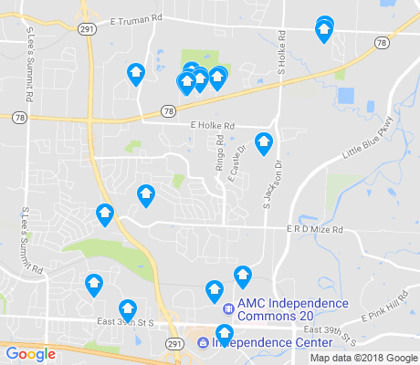 map of Blackburn apartments for rent