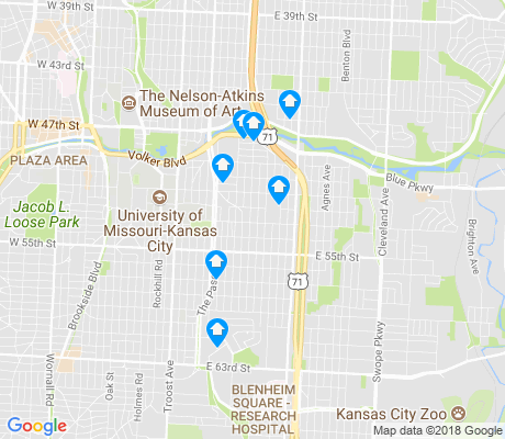 map of Blue Hills apartments for rent