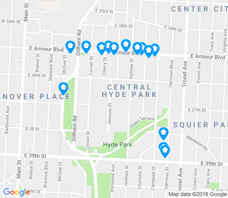 map of Central Hyde Park apartments for rent