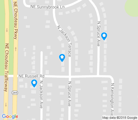 map of Chouteau Estates apartments for rent