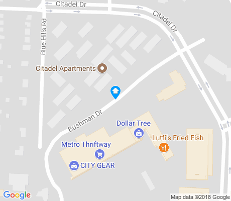 map of Citadel apartments for rent