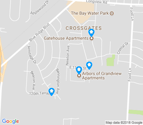 map of Crossgates apartments for rent