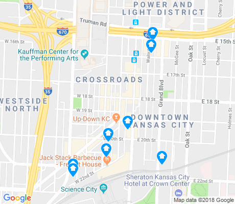 map of Crossroads apartments for rent