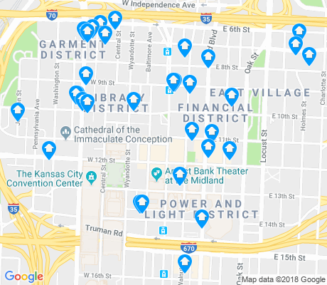 map of Downtown Loop apartments for rent