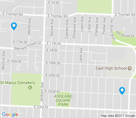 map of East Community Team North apartments for rent