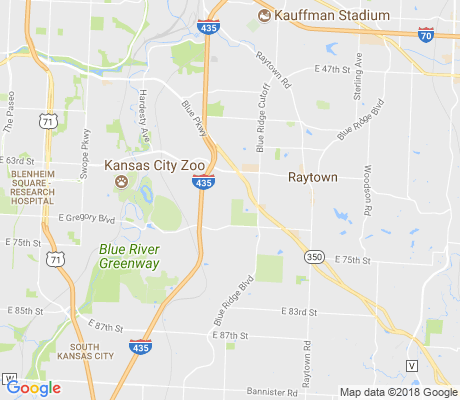 map of East Swope Highlands apartments for rent