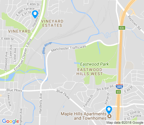 map of Eastwood Hills West apartments for rent