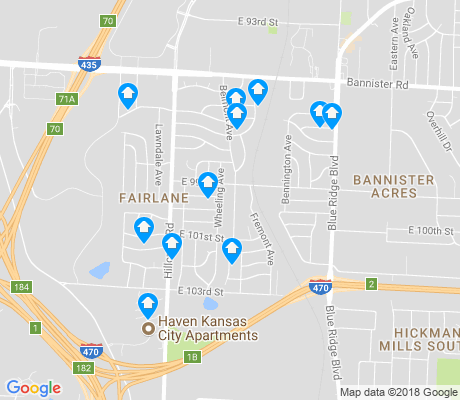 map of Fairlane apartments for rent