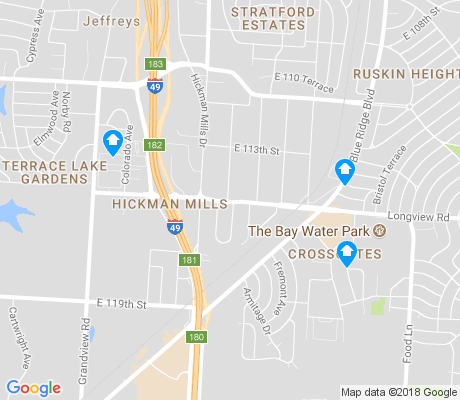 map of Hickman Mills apartments for rent