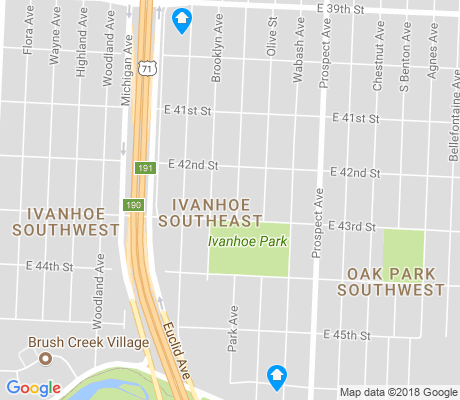 map of Ivanhoe Southeast apartments for rent