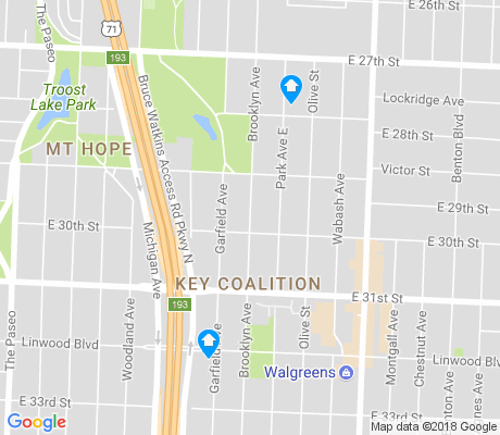 map of Key Coalition apartments for rent