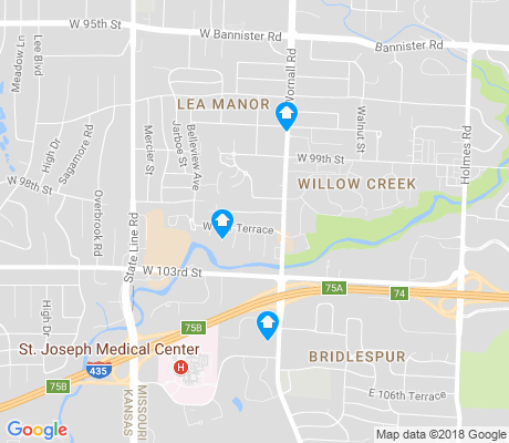 map of Lea Manor apartments for rent
