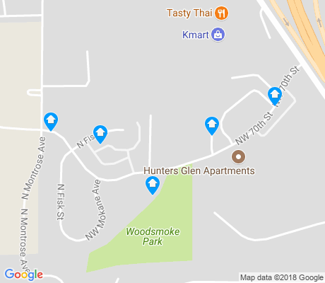 map of Linden Park apartments for rent
