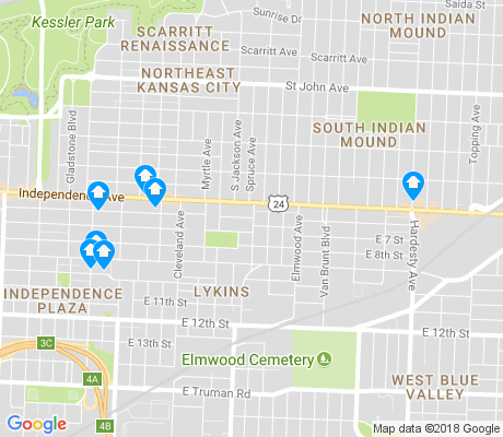 map of Lykins apartments for rent