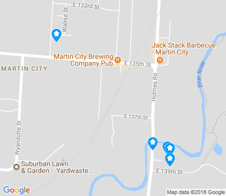 map of Martin City apartments for rent