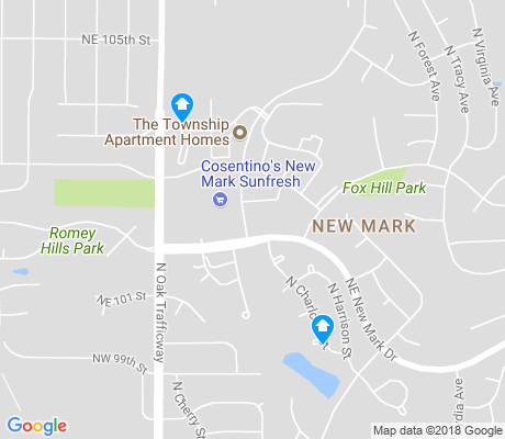 map of New Mark apartments for rent