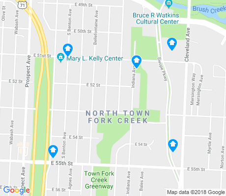 map of North Town Fork Creek apartments for rent