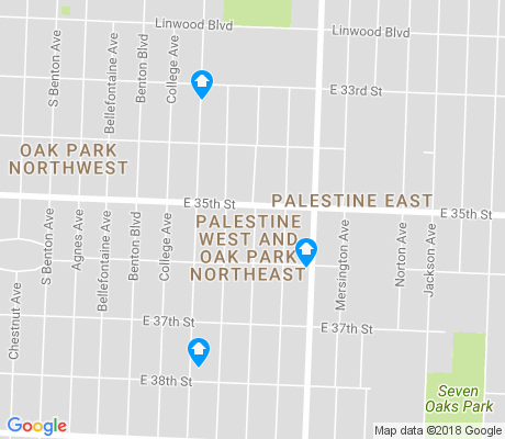 map of Palestine West and Oak Park Northeast apartments for rent