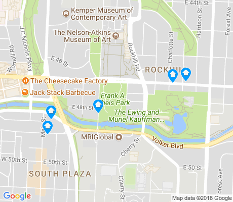map of Park Central-Research Park apartments for rent