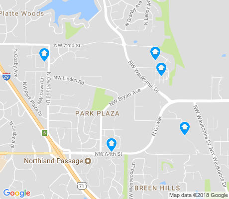 map of Park Plaza apartments for rent