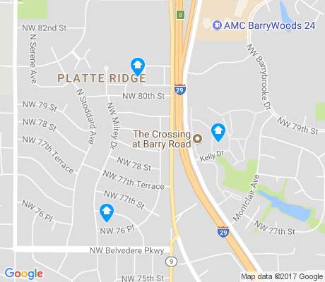 map of Platte Ridge apartments for rent