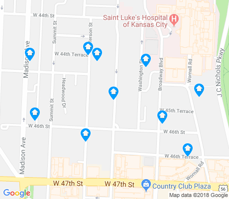map of Plaza Westport apartments for rent