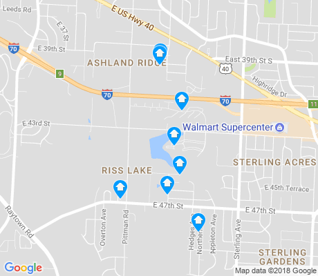 map of Riss Lake apartments for rent