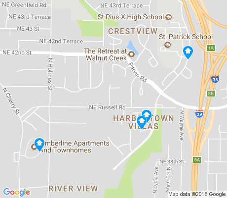 map of River View apartments for rent