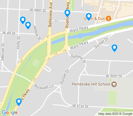 map of Sunset Hill apartments for rent