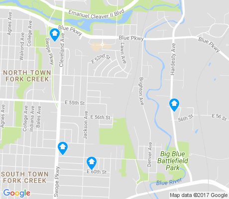 map of Swope Parkway - Elmwood apartments for rent
