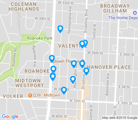 map of Valentine apartments for rent