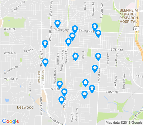 map of Waldo apartments for rent