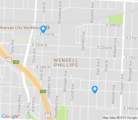 map of Wendell Phillips apartments for rent