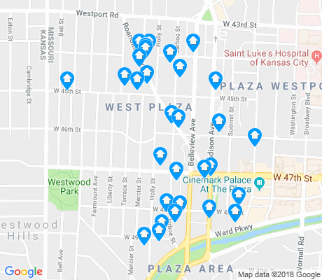 map of West Plaza apartments for rent