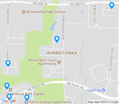 map of Winnetonka apartments for rent