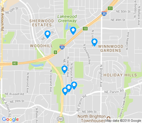 map of Winnwood apartments for rent