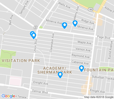 map of Academy - Sherman Park apartments for rent