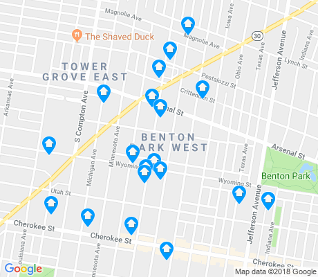 map of Benton Park West apartments for rent