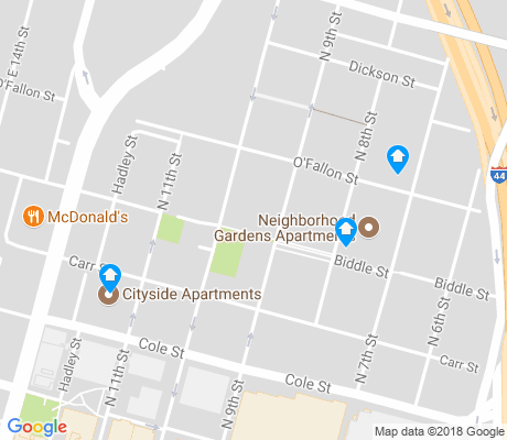 map of Columbus Square apartments for rent