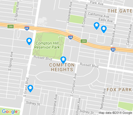 map of Compton Heights apartments for rent