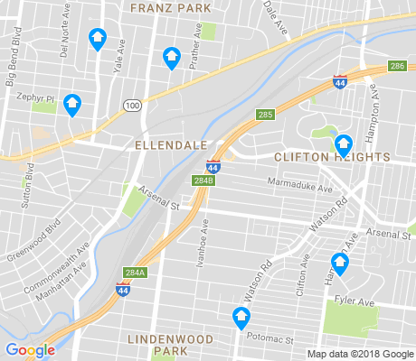 map of Ellendale apartments for rent