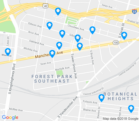 map of Forest Park Southeast apartments for rent