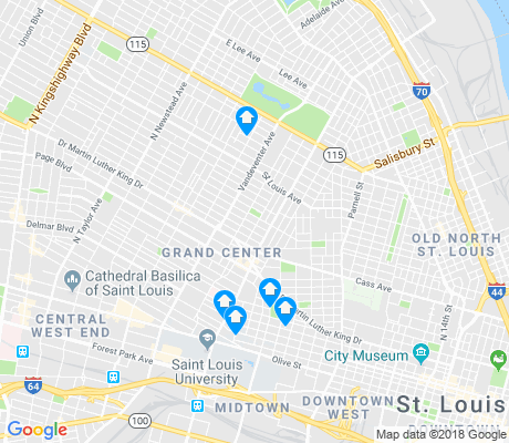 map of Jeff-Vander-Lou apartments for rent