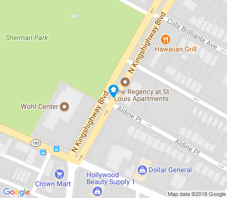 map of Kingsway East apartments for rent