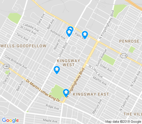 map of Kingsway West apartments for rent