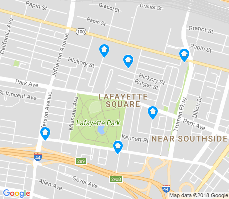map of Lafayette Square apartments for rent