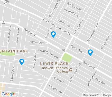 map of Lewis Place apartments for rent