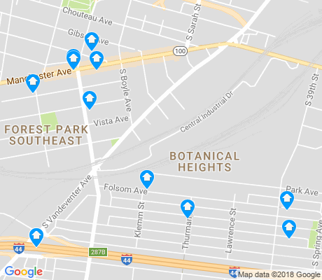 map of McRee Town apartments for rent