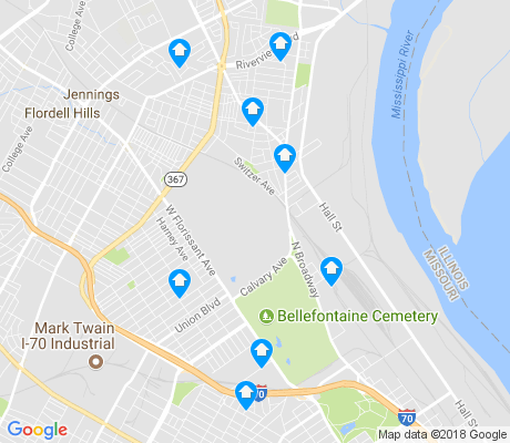 map of North Riverfront apartments for rent